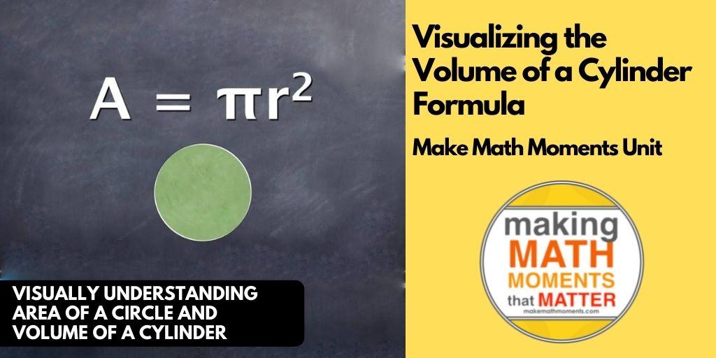 Visualizing the Volume of a Cylinder Formula