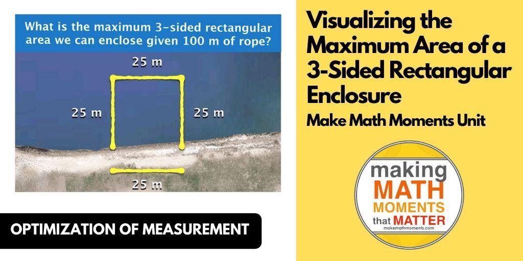 Visualizing the Maximum Area of a 3-Sided Rectangular Enclosure