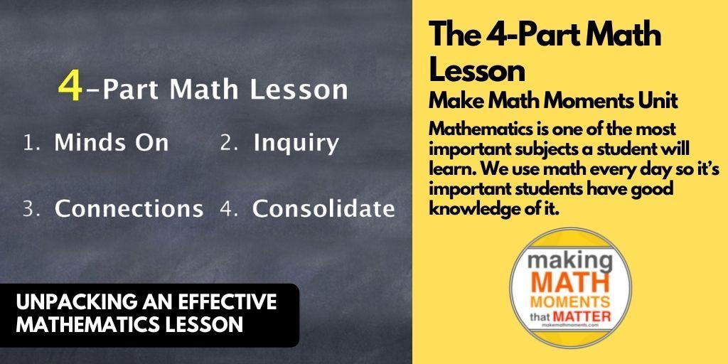 The 4-Part Math Lesson