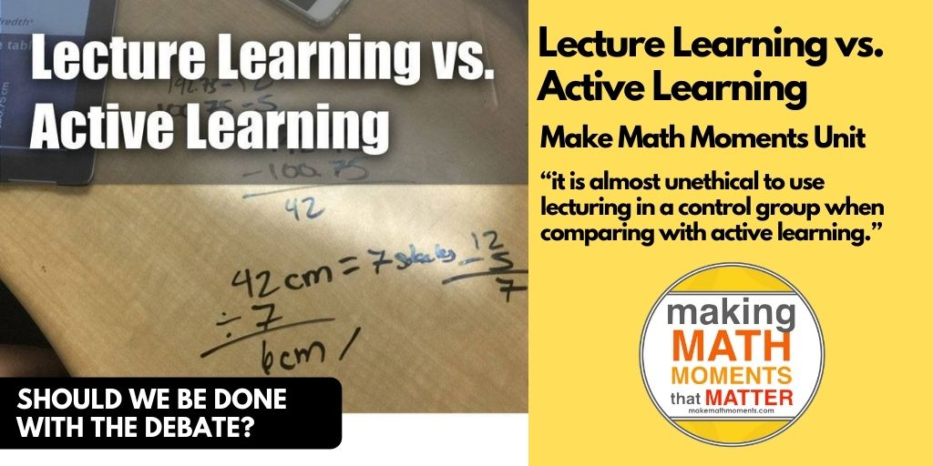 Lecture Learning vs. Active Learning