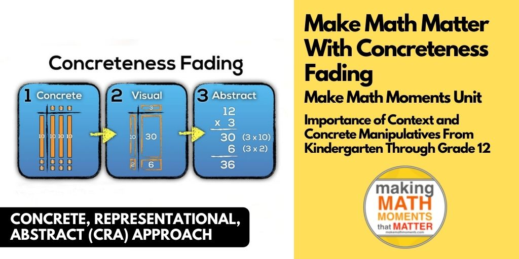 Make Math Matter With Concreteness Fading