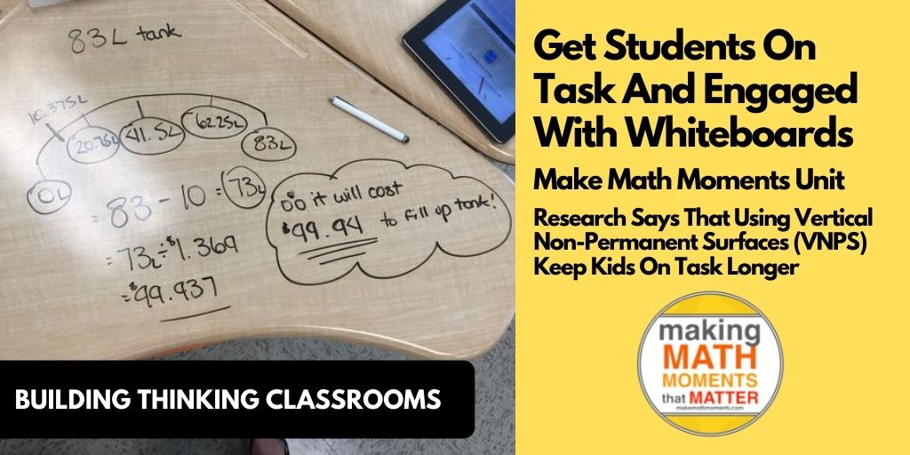 Get Students On Task And Engaged With Whiteboards
