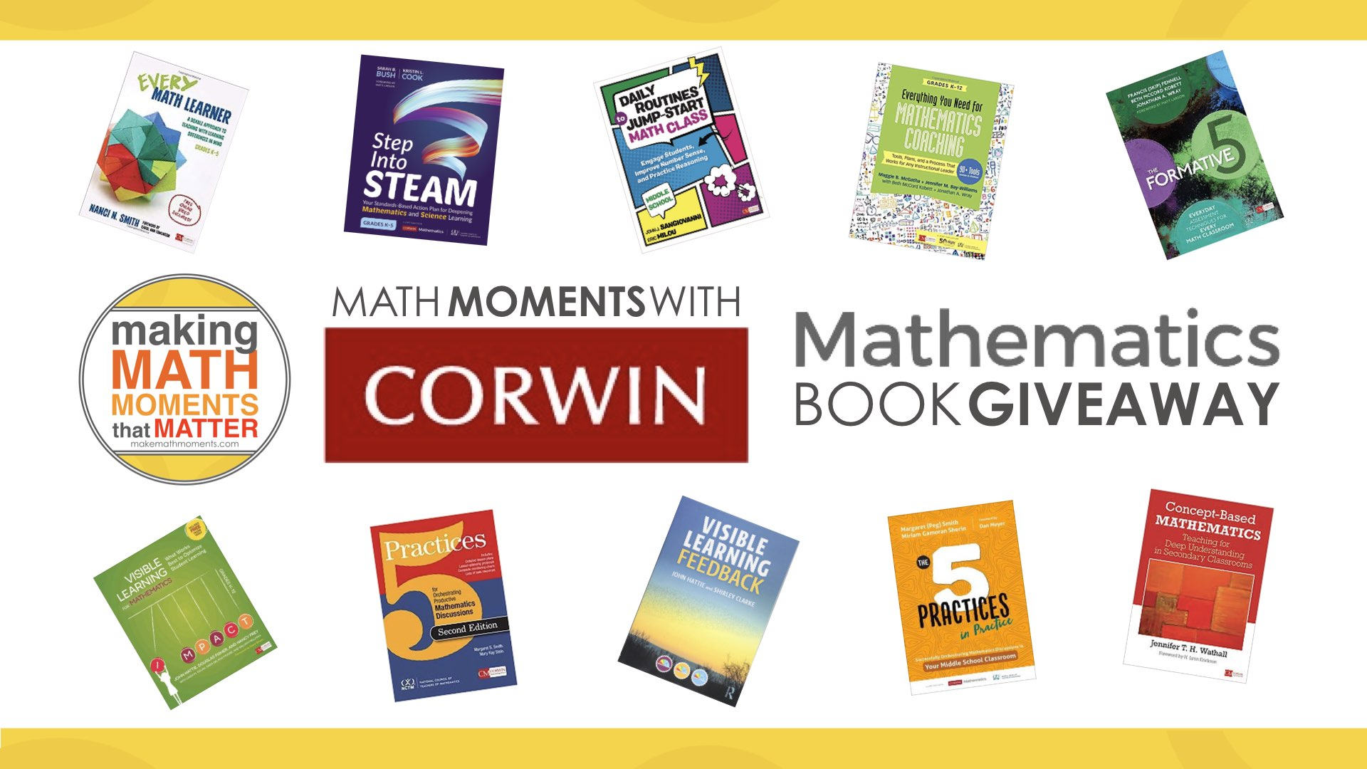 Math Moments With Corwin Mathematics Book Giveaway