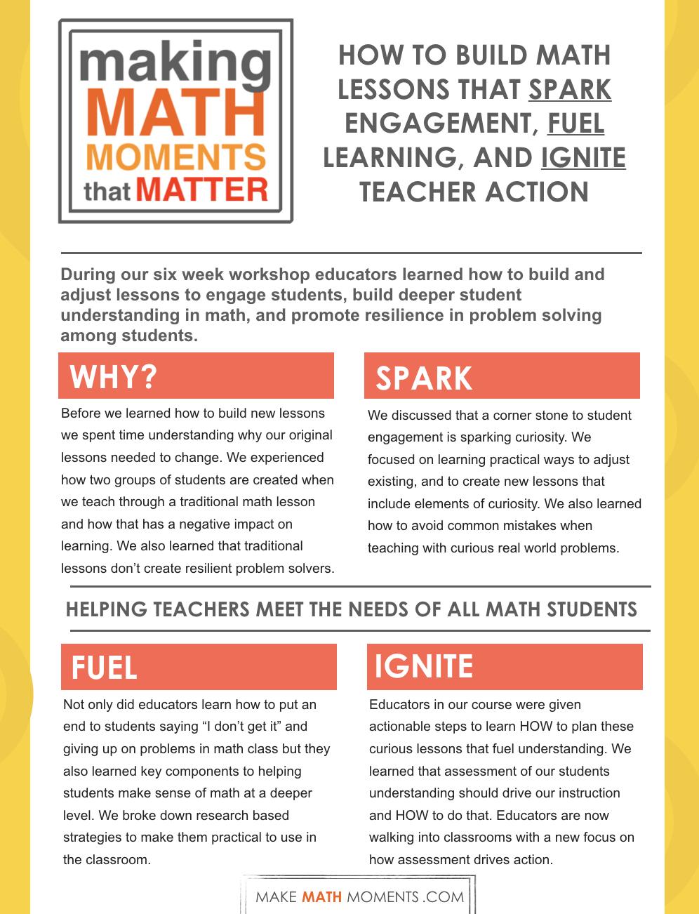 Making Math Moments That Matter Online Workshop - Lesson4