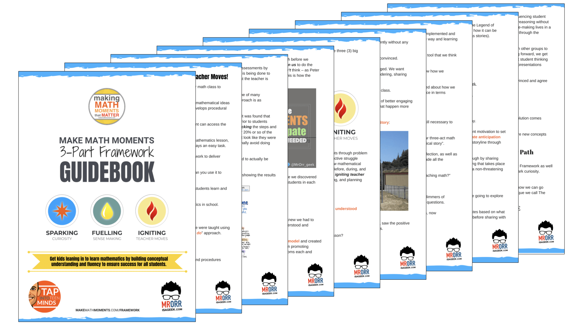 3 Part Framework Guidebook Pages Screenshot