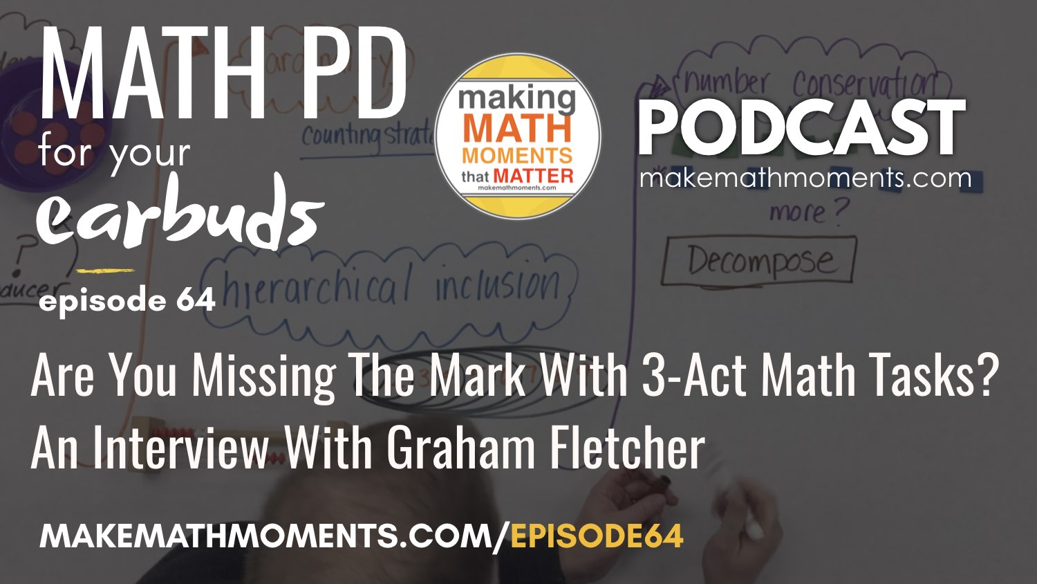 Episode #64 – Are You Missing The Mark With 3-Act Math Tasks?  An Interview with Graham Fletcher