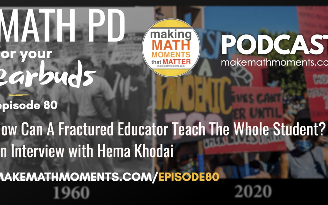 Episode #80 How Can A Fractured Educator Teach The Whole Student? – An Interview with Hema Khodai