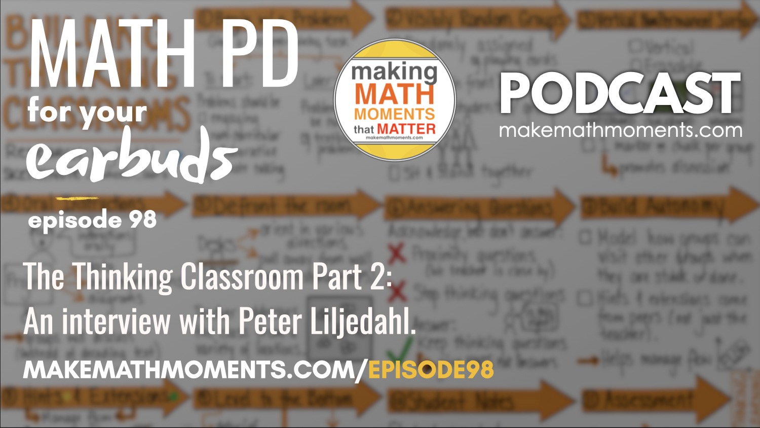Episode #98: The Thinking Classroom Part 2: An interview with Peter Liljedahl