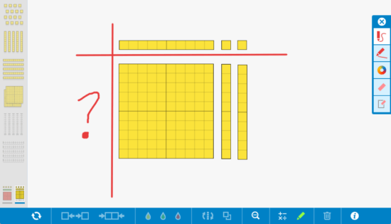 Progression of Division - Number Pieces App by Math Learning Center