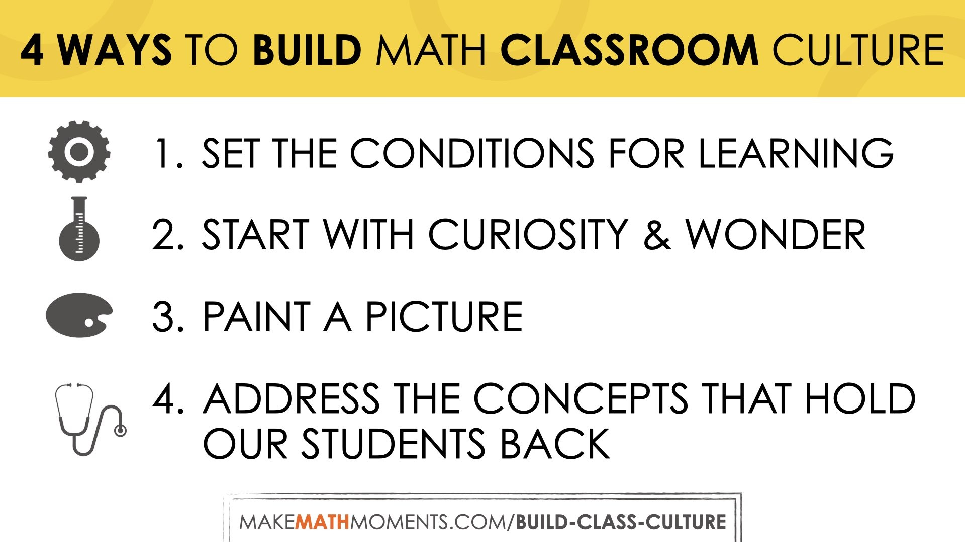 4 Tips to Build Your Math Classroom Culture - Make Math Moments