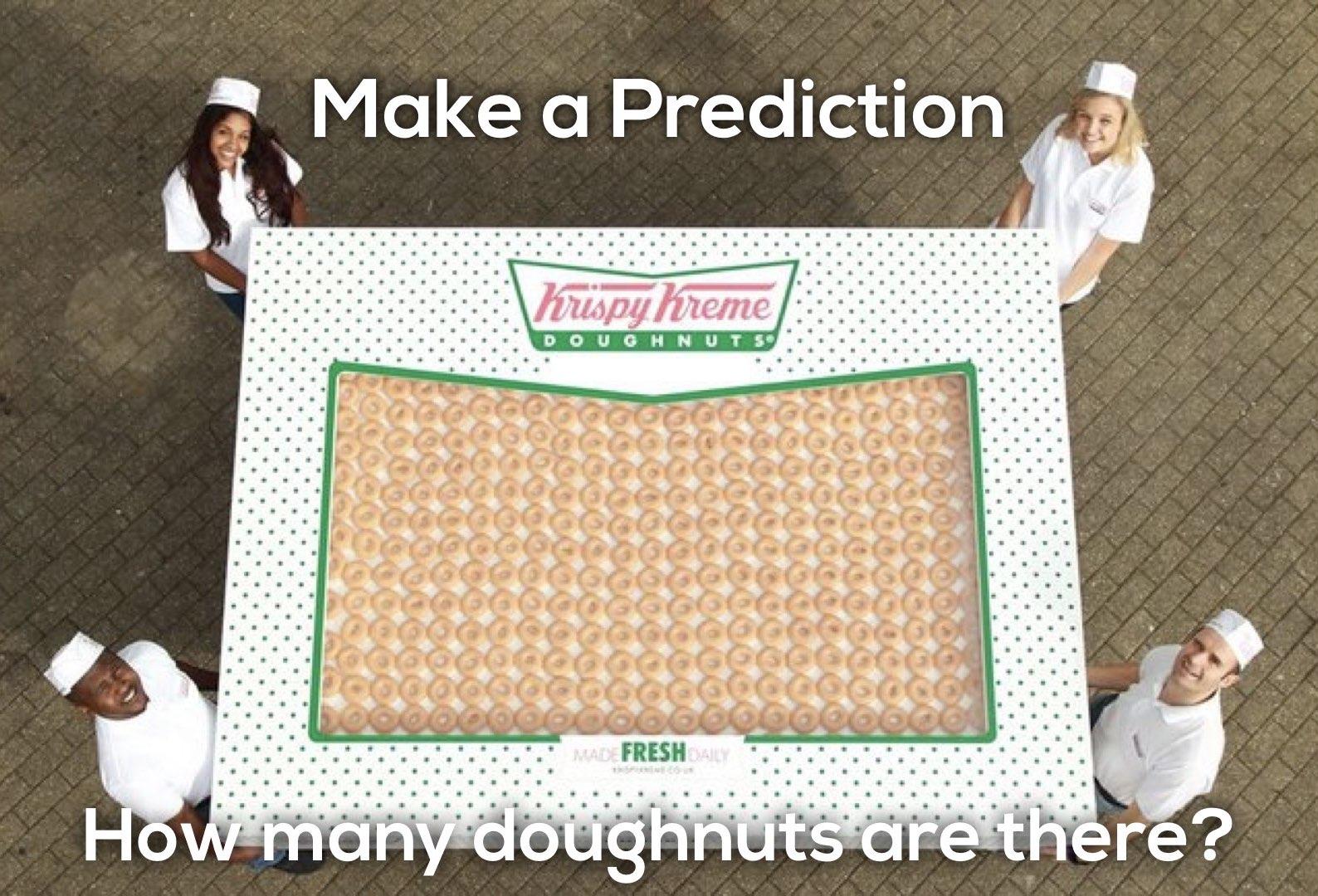 Krispy Kreme Donut Delight 3 Act Math Task - Make a Prediction