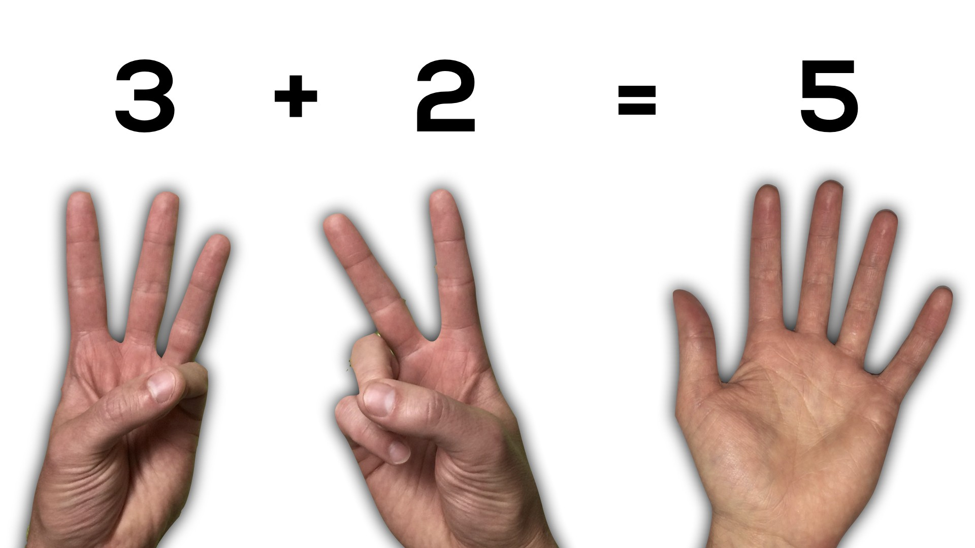 Counting and Quantity - 3 + 2 is 5