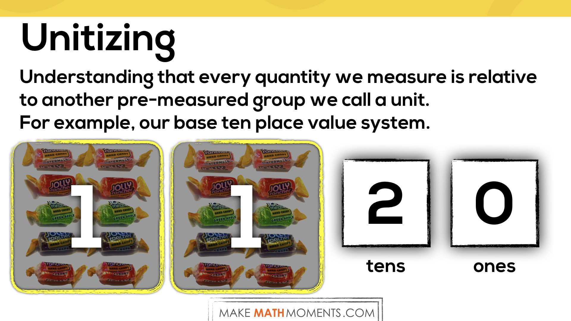 Why The Unit of Measure Matters.009 - one-to-many correspondence and base 10 place value